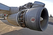 close up Jet engine of a Boeing 707