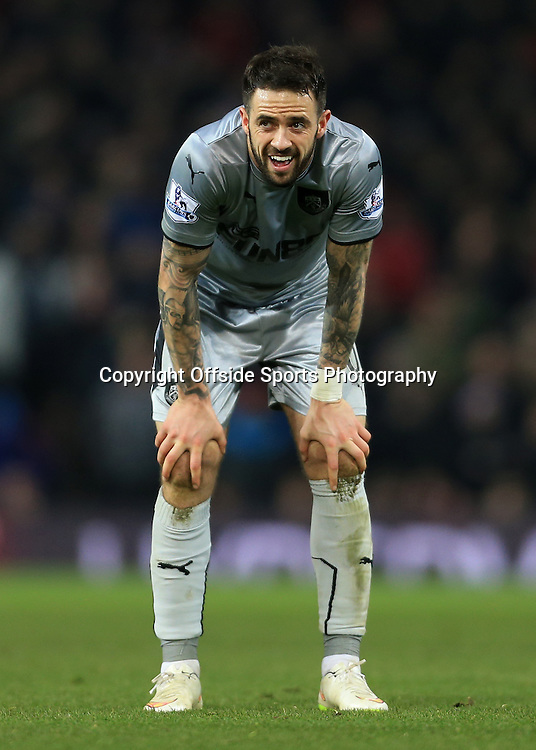 11th February 2015 - Barclays Premier League - Manchester United v Burnley - Danny Ings of Burnley looks dejected - Photo: Simon Stacpoole / Offside.