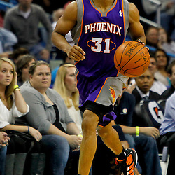 February 2, 2012; New Orleans, LA, USA; Phoenix Suns point guard Sebastian Telfair (31) against the New Orleans Hornets during a game at the New Orleans Arena. The Suns defeated the Hornets 120-103.  Mandatory Credit: Derick E. Hingle-US PRESSWIRE