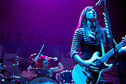 Halestorm performing on the Avalanche Tour at the Allen County War Memorial Auditorium in Fort Wayne, IN on March 29, 2011