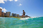 Surfer, Waikiki Beach, Honolulu, Oahu, Hawaii