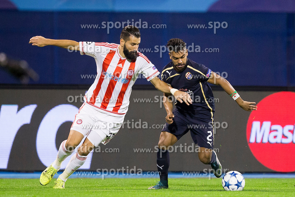 El Arabi Hilal Soudani #2 of GNK Dinamo Zagreb during football match between GNK Dinamo Zagreb and Olympiakos in Group F of Group Stage of UEFA Champions League 2015/16, on October 20, 2015 in Stadium Maksimir, Zagreb, Croatia. Photo by Urban Urbanc / Sportida