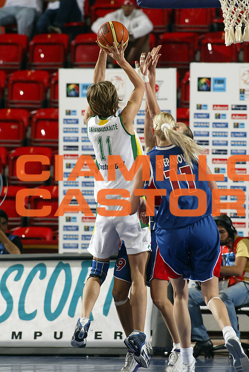 DESCRIZIONE : Ankara Eurobasket Women 2005 Russia-Lituania<br /> GIOCATORE : Baranauskaite<br /> SQUADRA : Lituania Lithuania<br /> EVENTO : Eurobasket Women 2005 Campionati Europei Donne 2005<br /> GARA : Russia Lituania Russia Lithuania<br /> DATA : 10/09/2005<br /> CATEGORIA :<br /> SPORT : Pallacanestro<br /> AUTORE : Ciamillo&amp;Castoria/Fiba Europe