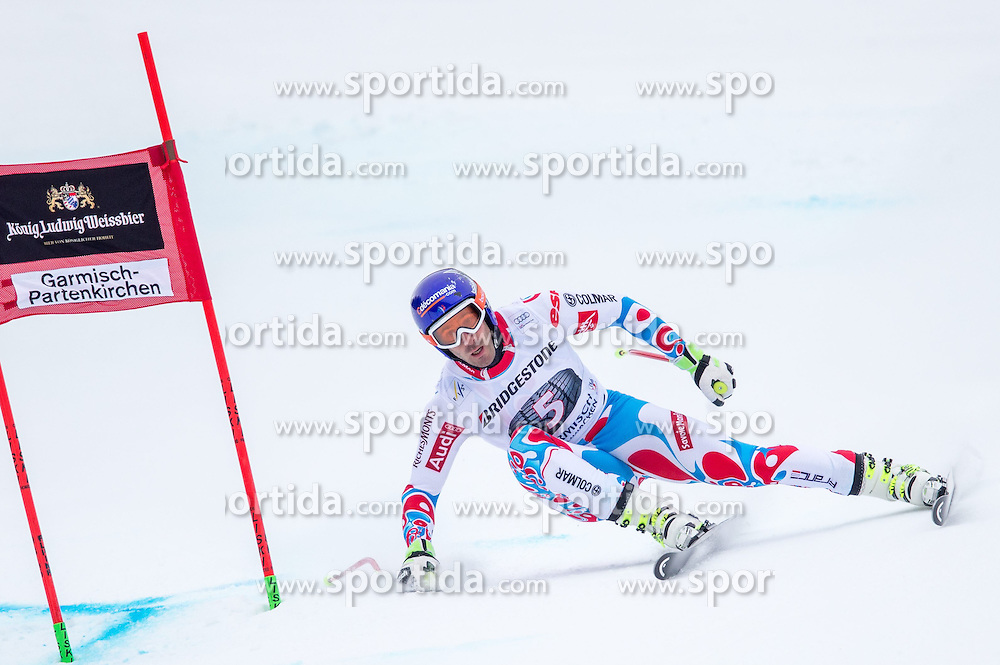 27.02.2015, Kandahar, Garmisch Partenkirchen, GER, FIS Weltcup Ski Alpin, Abfahrt, Herren, 2. Training, im Bild Adrien Theaux (FRA) // Adrien Theaux of France in action during the 2nd trainings run for the men's Downhill of the FIS Ski Alpine World Cup at the Kandahar course, Garmisch Partenkirchen, Germany on 2015/27/02. EXPA Pictures © 2015, PhotoCredit: EXPA/ Johann Groder