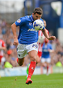 Gareth Evans during the Sky Bet League 2 match between Portsmouth and Accrington Stanley at Fratton Park, Portsmouth, England on 5 September 2015. Photo by Adam Rivers.