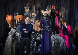 © Licensed to London News Pictures. 01/11/2016. London, UK. Hair stylist Sam McKnight stands amongst a display of mannequins highlighting his work for Vivienne Westwood at the 'Hair by Sam McKnight' exhibition at Somerset House. The show, which runs from 2nd November, 2016 to 12th March, 2017, celebrates the career of fashion's favourite hair stylist. Photo credit: Peter Macdiarmid/LNP