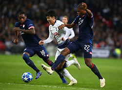November 6, 2018 - London, England, United Kingdom - London, England - November 06, 2018.L-R Pablo Rosario of PSV Eindhoven, Tottenham Hotspur's Son Heung-Min and Denzel Dumfries of PSV Eindhoven.during Champion League Group B between Tottenham Hotspur and PSV Eindhoven at Wembley stadium , London, England on 06 Nov 2018. (Credit Image: © Action Foto Sport/NurPhoto via ZUMA Press)
