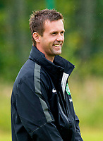 24/06/14<br /> CELTIC TRAINING<br /> LENNOXTOWN<br /> Celtic's new manager Ronny Deila looks relaxed as the side return to Lennoxtown to prepare for the season ahead