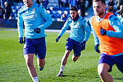 Leeds United midfielder Pablo Hernandez (19) warming up during the EFL Sky Bet Championship match between Queens Park Rangers and Leeds United at the Kiyan Prince Foundation Stadium, London, England on 18 January 2020.