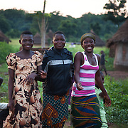 Young girls made up for the night. Benue state has got one of the highest HIV prevalence in Nigeria and EVA aim to target vulnerable children who would otherwise miss out of being tested for HIV and therefor not know their HIV statues. EVA runs a programme in the community called Window of Hope where children once a week meet to find support with each other and to receive psycho-social help. Many of the children are from HIV effected families and live precarious lives.  Education As a Vaccine Against Aids (EVA) in Nigeria.Education As a Vaccine Against Aids (EVA) in Nigeria.