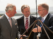 19/05/2015   HRH The Prince of Wales on his visit to the Marine Institute where he met An Taoiseach Enda Kenny TD  and talked to the Marine Institute Director Mr Mick Gillooly. Photo: Andrews Downes XPOSURE
