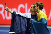Renaud Lavillenie and Armand Duplantis take a selfie in men pole vault during the European Championships 2018, at Olympic Stadium in Berlin, Germany, Day 6, on August 12, 2018 - Photo Philippe Millereau / KMSP / ProSportsImages / DPPI