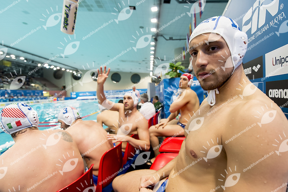 11 AICARDI ITA<br /> FINA Men's Water Polo Olympic Games Qualifications Tournament 2016<br /> Italy ITA (White) Vs Germany GER (Blue)<br /> Trieste, Italy - Swimming Pool Bruno Bianchi<br /> Day 5  07-04-2016<br /> Photo G.Scala/Insidefoto/Deepbluemedia