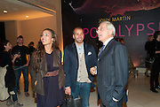 PRINCESS ALIA AL-SENUSSI; ABDULLAH AL-TURKI;;  ; JEAN BROLLY, John Martin: Apocalypse. Tate Britain. Millbank. London. 19 September 2011.<br /> <br />  , -DO NOT ARCHIVE-© Copyright Photograph by Dafydd Jones. 248 Clapham Rd. London SW9 0PZ. Tel 0207 820 0771. www.dafjones.com.