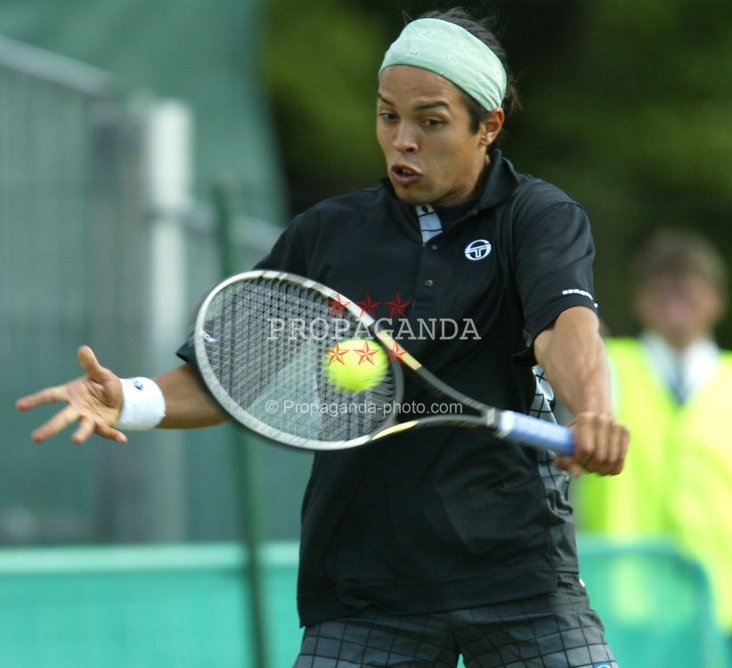 Hicham Arazi (MAR) during the first round of the Liverpool International at Calderstones Park, Liverpool.