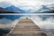 Sleeping on the dock of the bay.  Boat dock Lake McDonald, Glacier National Park
