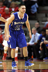 31 December 2014:  Grant Prusator during an NCAA Division 1 Missouri Valley Conference (MVC) men's basketball game between the Indiana State Sycamores beat the Illinois State Redbirds 63-61 at Redbird Arena in Normal Illinois