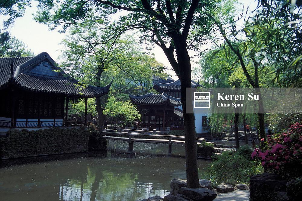 Landscape in Humble Administrator's Garden, Suzhou, Jiangsu Province, China