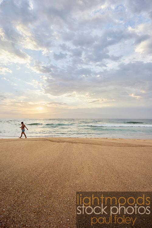 Summer sunrise at Merewether Beach, Newcastle, Australia.