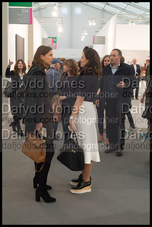 INDRE ROBERTS; KATHERINE SCHAEFER, Opening of Frieze art Fair. London. 14 October 2014