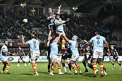 February 23, 2019 - Perpignan, France - Touche USAP vs SUA (Credit Image: © Panoramic via ZUMA Press)