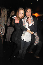 CHLOE FLEMING and IAIN RUSSELL at the Tatler Magazine Little Black Book party at Tramp, 40 Jermyn Street, London SW1 on 5th November 2008.