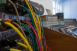 Bonhams, London, March 20th 2017. The Abbey Road Studios EMI TG12345 MK IV recording console Pink Floyd used to record their landmark album, The Dark Side of the Moon, to be sold by Bonhams at their TCM Presents...Rock and Roll Through the Lens sale in New York on 27 March 2017