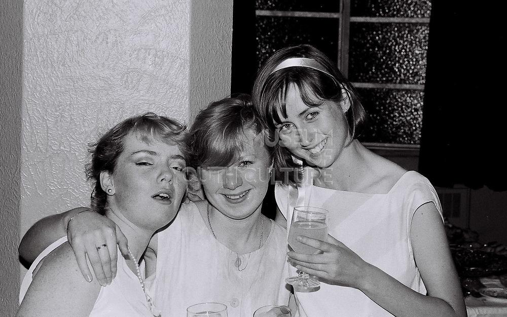 Guests at a wedding reception, London, UK, 1983