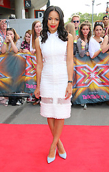 © Licensed to London News Pictures. 20/06/2014, UK.  Sarah-Jane Crawford, The X Factor - London auditions photocall, Emirates Stadium, London UK, 20 June 2014. Photo credit : Richard Goldschmidt/Piqtured/LNP