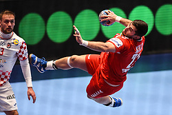Zoran Nikolic of Serbia during the handball match between National teams of Serbia and Croatia in Group A of Men's EHF EURO 2020 on January 13, 2020 in Stadhalle Graz, Graz, Austria