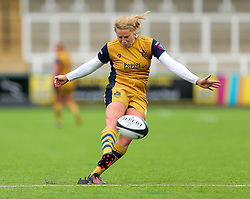 Amber Reed (capt) of Bristol Ladies kicks a conversion - Rogan Thomson/JMP - 08/10/2016 - RUGBY UNION - Kingston Park - Newcastle, England - Darlington Mowden Park Sharks v Bristol Ladies Rugby - RFU Women's Premiership.