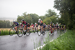 Jeanne Korevaar (NED) of Rabo-Liv Cycling Team (M) digs deep on the last, main climb of the 76,1 km first stage of the 2016 Ladies' Tour of Norway women's road cycling race on August 12, 2016 between Halden and Fredrikstad, Norway. (Photo by Balint Hamvas/Velofocus)