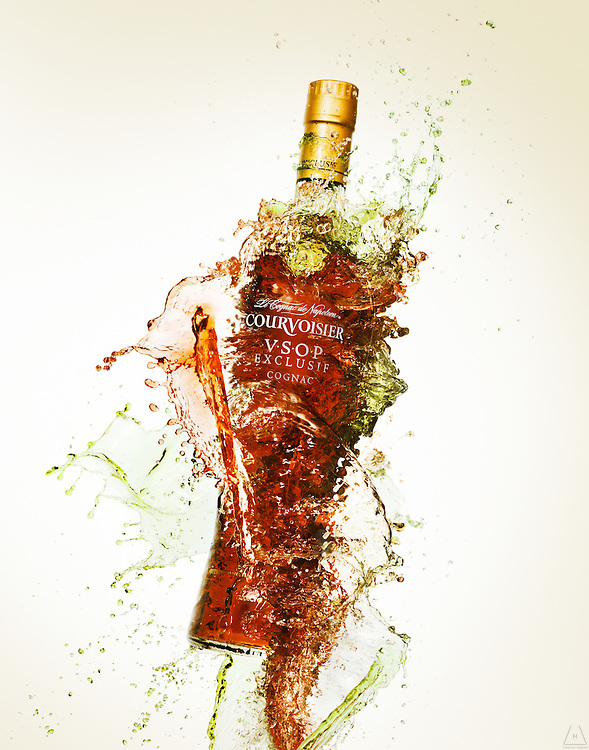 Advertising photograph of beverages and liquids by Timothy Hogan in Los Angeles, New York and London