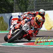Imola 13/05/2018, Autodromo Enzo e Dino Ferrari<br /> Campionato mondiale Superbike 2018<br /> Gara 2<br /> Michael Ruben Rinaldi ( Ducati Aruba.it Racing junior)