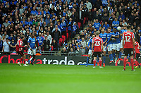 Football - 2019 EFL Checkatrade Trophy Final - Sunderland vs. Portsmouth<br /> <br /> Aiden McGeady of Sunderland scores his first half goal from a free kick over the Portsmouth wall, at Wembley.<br /> <br /> COLORSPORT/ANDREW COWIE