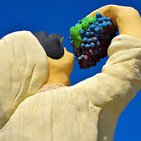 Chief Eating Grapes Statue in Palm Beach District, Aruba<br />