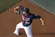 Pedro Hernandez #60 of the Minnesota Twins warms up in the bullpen before a game against the Chicago White Sox on May 13, 2013 at Target Field in Minneapolis, Minnesota.  The Twins defeated the White Sox 10 to 3.  Photo: Ben Krause
