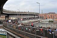 Rome (Italy), 22/12/2010: Manifestazione degli studenti che invadono la via Prenestina e la Tangenziale Est.<br /> &copy;Andrea Sabbadini