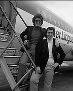 Red Hurley/Bendan Graham- Eurovision Song Contest 30/03/1976  Red Hurley/Brendan Graham- Eurovision Song Contest .30/03/1976.03/30/1976.30th March 1976.Red Hurley and composer Brendan J. Graham leave for the Eurovision song contest in The Hague, Netherlands   Red Hurley and composer Brendan J. Graham leave for the Eurovision song contest in The Hague, Netherlands. Their song 'When' would finish in 10th position.