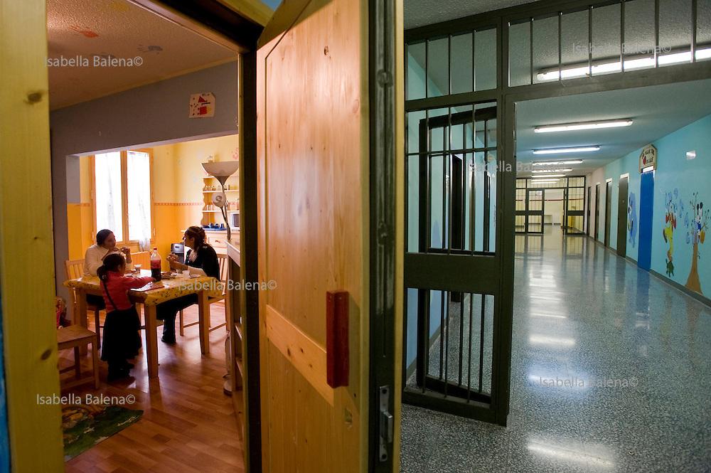 Milan, Bollate, Italy, 2008. Stanza dell'affittività nel carcere.