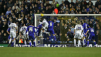 Photo: Andrew Unwin.<br />Leeds United v Cardiff City. Coca Cola Championship.<br />10/12/2005.<br />Leeds' Rob Hulse (C) comes close to an equaliser at the end of the game.