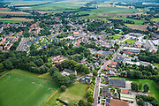 Nederland, Groningen, Gemeente Vlagtwedde, 27-08-2013;<br /> Dorp Vlagtwedde met boerderij, kerk  en voornamelijk laagbouw, vrijstaande woningen en rijtjeshuizen.<br /> The village of Vlagtwedde in the country in north Netherlands.<br /> luchtfoto (toeslag op standaard tarieven);<br /> aerial photo (additional fee required);<br /> copyright foto/photo Siebe Swart.