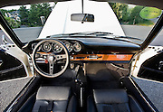 Image of a '60's sports car interior near Seattle, Washington, Pacific Northwest,  1966 Porsche 911, property released