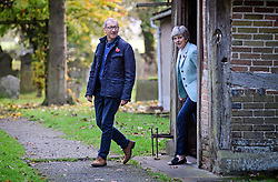 © Licensed to London News Pictures. 05/11/2017. Maidenhead, UK. British prime minister THERESA MAY attends a morning church service with her husband PHILIP MAY, near her constituency home. Photo credit: Ben Cawthra/LNP