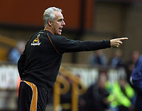Photo: Rich Eaton.<br /> <br /> Wolverhampton Wanderers v Sheffield Wednesday. Coca Cola Championship. 28/10/2006. Wolves manager Mick McCarthy gives instructions as his team draw 2-2 at home