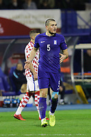 ZAGREB, CROATIA - NOVEMBER 09:  Kyriakos Papadopoulos of Greece complain to referee during the FIFA 2018 World Cup Qualifier play-off first leg match between Croatia and Greece at Maksimir Stadium on November 9, 2017 in Zagreb, Croatia. (Luka Stanzl/PIXSELL)