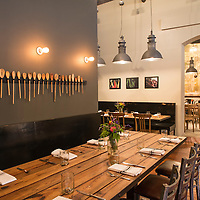 Chef John Fleer's restaurant Rhubarb is located at 7 SW Pack Square in Downtown Asheville, North Carolina.
