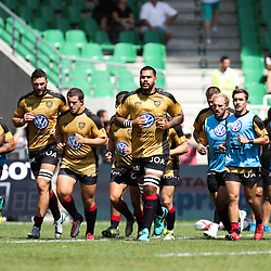 Players of Toulon warm up during Top 14 match between Pau and RC Toulon on September 1, 2018 in Pau, France. (Photo by Manuel Blondeau/Icon Sport)