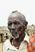 Africa, Ethiopia, Omo Valley, Daasanach tribe mature man