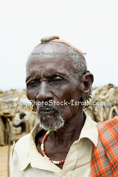 Africa, Ethiopia, Omo Valley, Daasanach tribe mature man